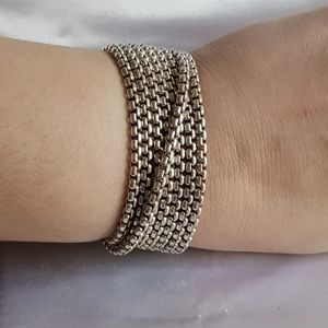 David Yurman Eight Row Box Chain Bracelet 32mm